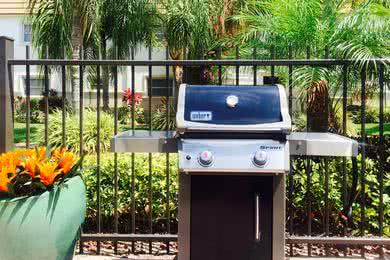 Gas Grill | Have a cookout by utilizing our gas grill by the pool.
