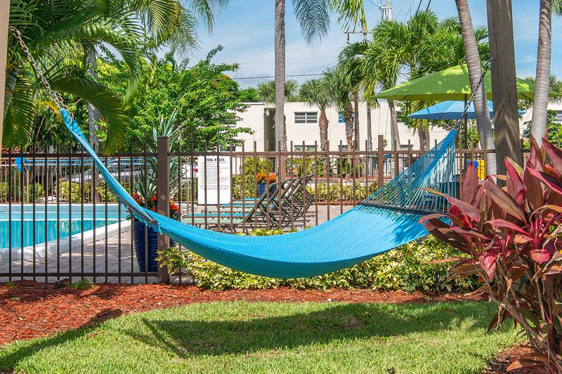 Hammock Garden | Soak in the sun from our hammock garden.