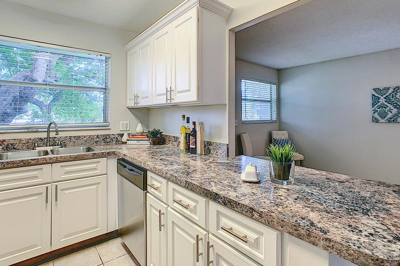 Fully Applianced Kitchens | Kitchens are fully applianced including a dishwasher and breakfast bar!