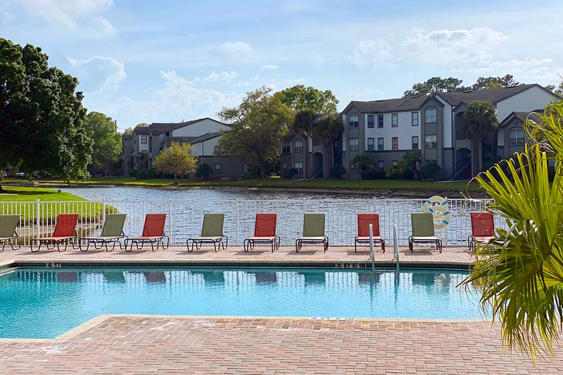 Resort-Style Pool | Take a dip in our resort-style pool overlooking the lake.