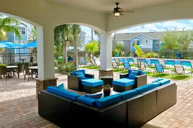 Outdoor Patio | Lounge in the shade under our outdoor patio next to the pool.