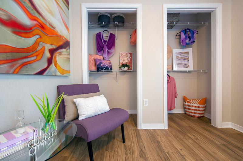 Spacious Closets | You'll love our spacious closets featured in our guest bedrooms.