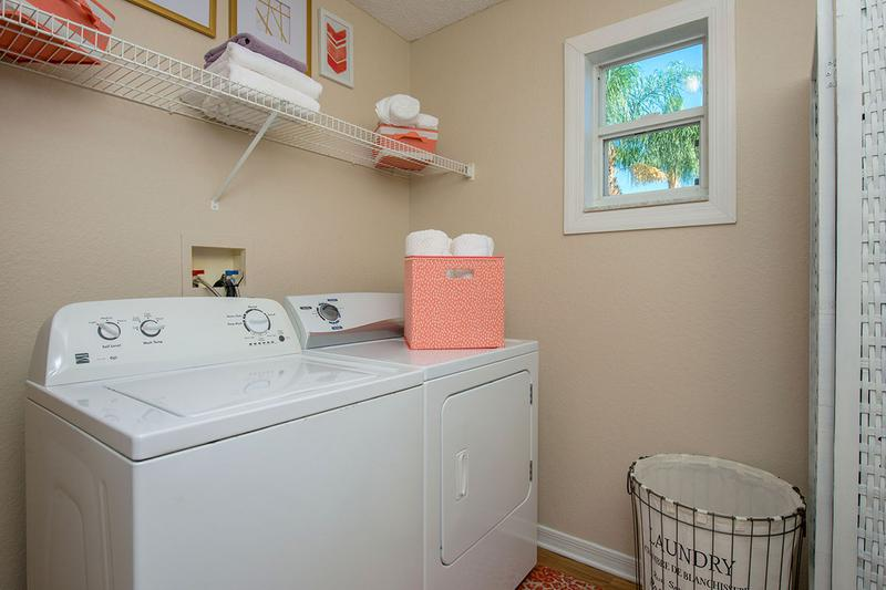 Laundry Room | Every apartment home has a laundry room with full size appliances.
