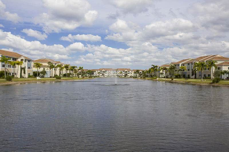 Lakeside Living | Enjoy our lovely lake with fountain in the center of our community.