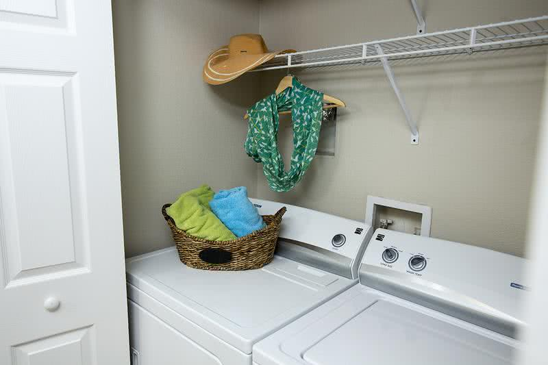 Washer & Dryers Included | Full size washer and dryer appliances are included. Select homes feature front loaders.