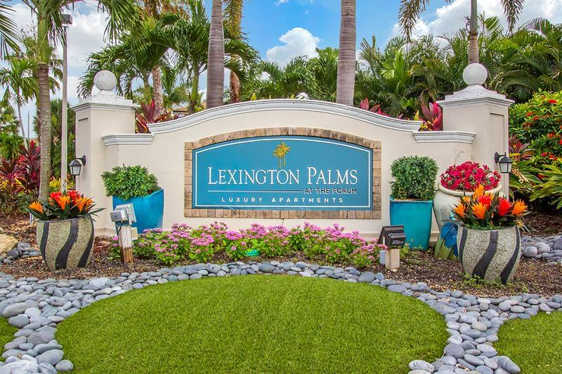Entrance Sign | Welcome home to Lexington Palms at the Forum!
