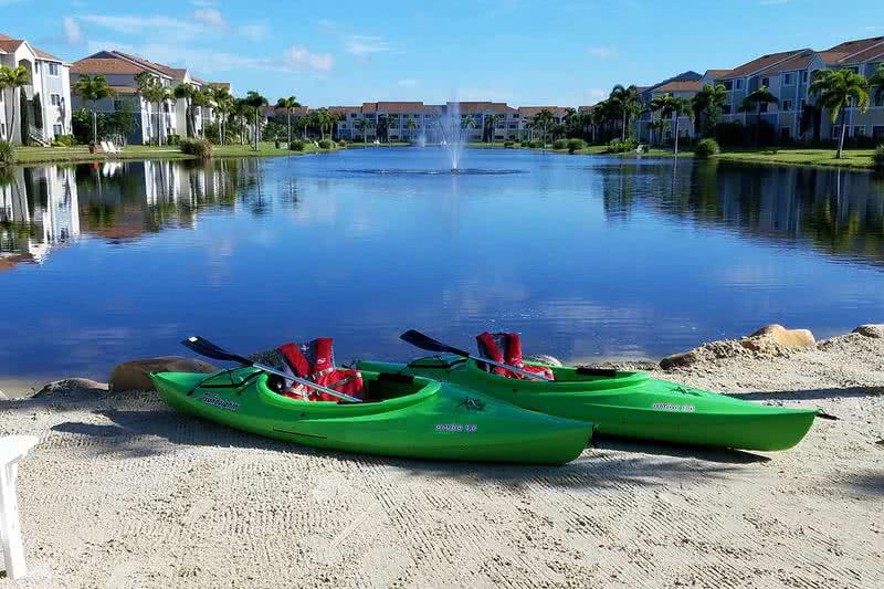 Kayaks | Residents have access to use our kayaks on site. Come on into the leasing office to reserve yours today.