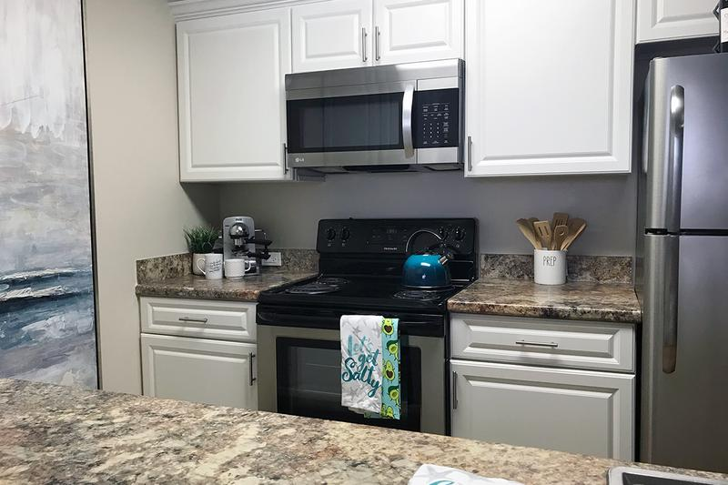 Stainless Steel Appliances | Our newly renovated apartment homes feature stainless steel appliances.