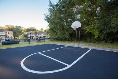 Basketball Court | Play a game of one on one at our basketball court.