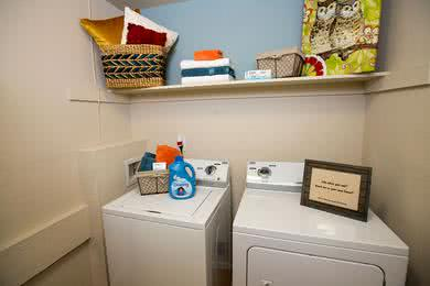 Laundry Room | Laundry Rooms featuring full size washer and dryer appliances available.
