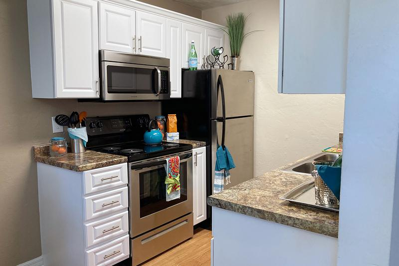 Updated Kitchens | Updated kitchens with stainless steel appliances available!