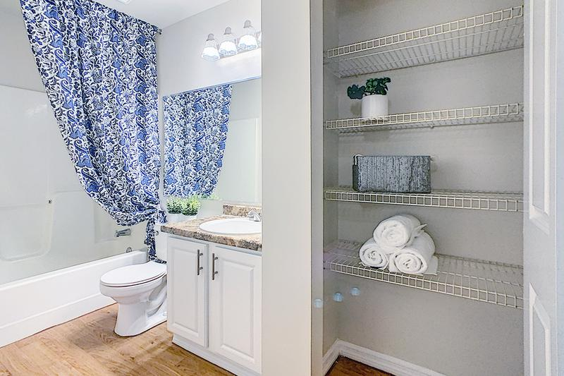 Master Bathroom | Master bathrooms featuring a linen closet.