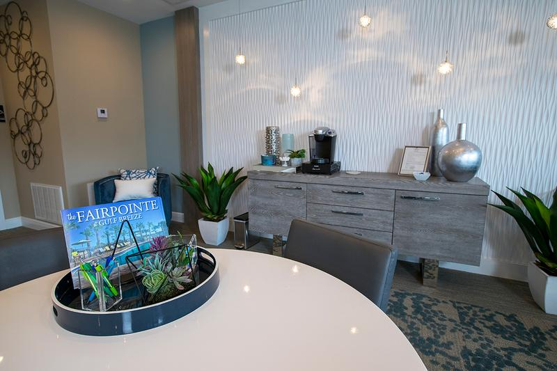 Coffee Bar | Enjoy a cup of complimentary coffee in the leasing office.