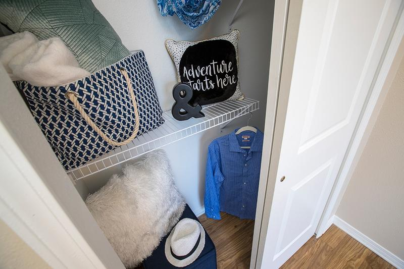 Spacious Closets | Spacious closets with built-in organizers. Plenty of room for all your clothes, shoes and accessories.