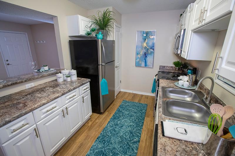 Stainless Steel Appliances | Newly renovated kitchens featuring stainless steel appliances.