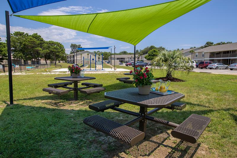 Picnic Area | Enjoy a picnic in our picnic area complete with grills and hammocks.