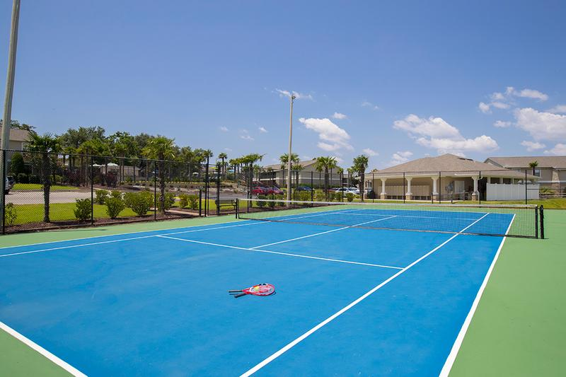 Tennis Court | Play a game on our regulation sized tennis court.