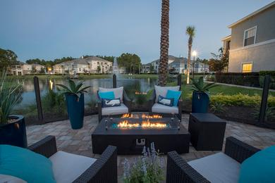 Fire Pit | Enjoy our community fire pit overlooking the lake.