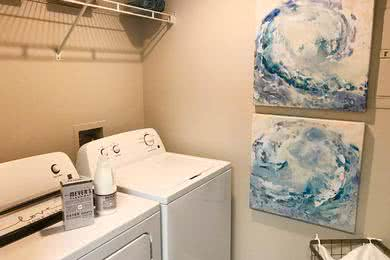 Laundry Room | Your new apartment home features full size washer and dryer appliances.