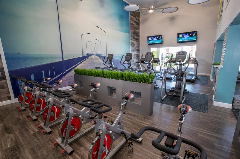 Fitness Center | Our state-of-the-art fitness center is complete with all the cardio and weight training equipment you need.