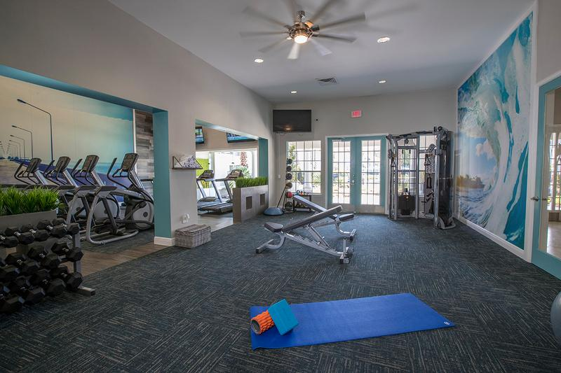 Fitness Center | Our fitness center also features an open area, perfect for yoga or mat exercises.