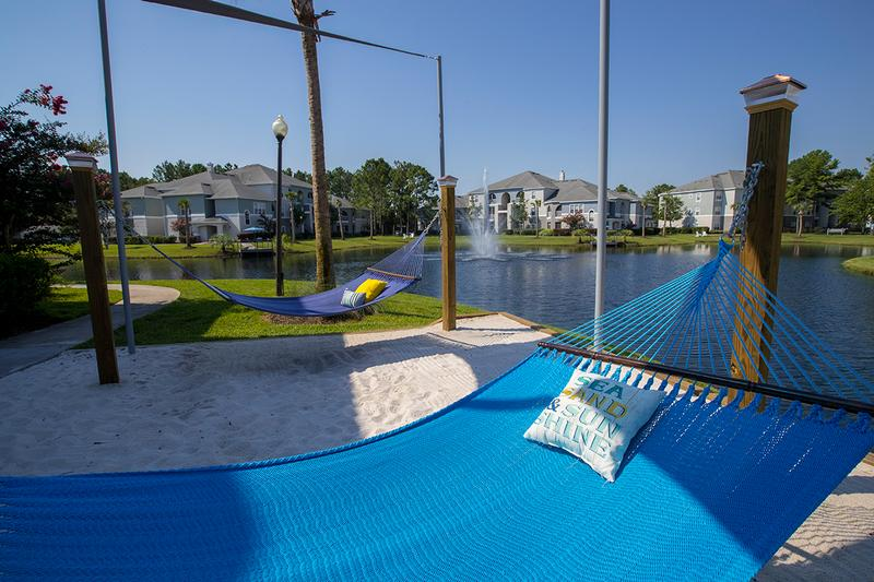 Hammock Lounge | Lay out and soak in the sun at our brand new hammock lounge.