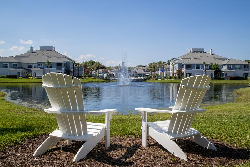 Lake Views | Sit by the lake in one of our many Adirondack chairs and take in the beautiful lake views.