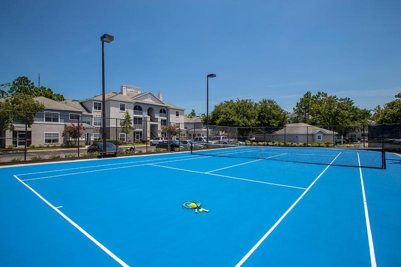 Tennis Court | Play a game of tennis on our lighted tennis court.