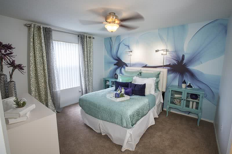 Master Bedroom | Master bedrooms feature ceiling fans and large walk-in closets.