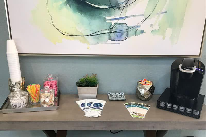Complimentary Coffee Bar | Come on into the leasing office for some complimentary coffee.