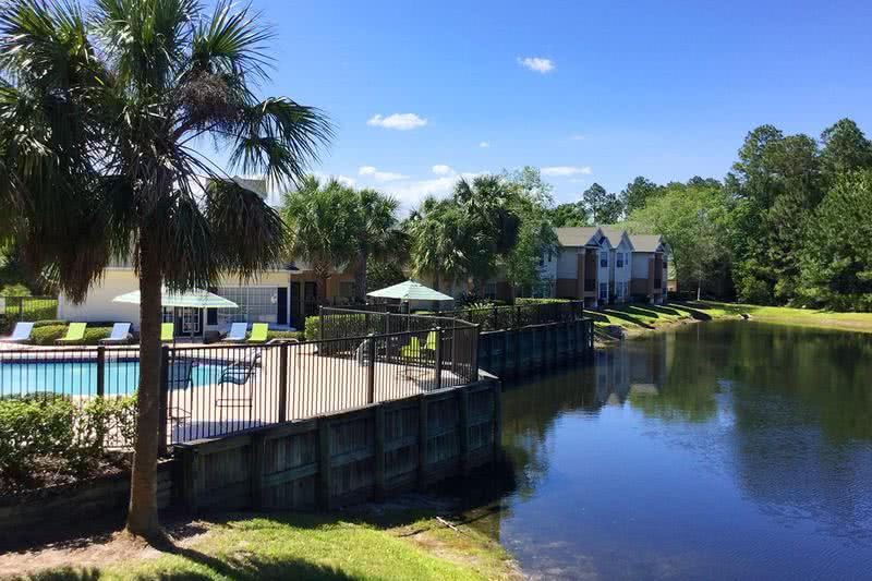 Lakeside Living | At Deer Meadow apartments, you will enjoy beautiful lakeside living.