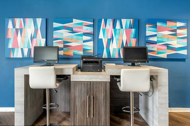 Business Center | Our resident business center is a great place to catch up on work or surf the web.