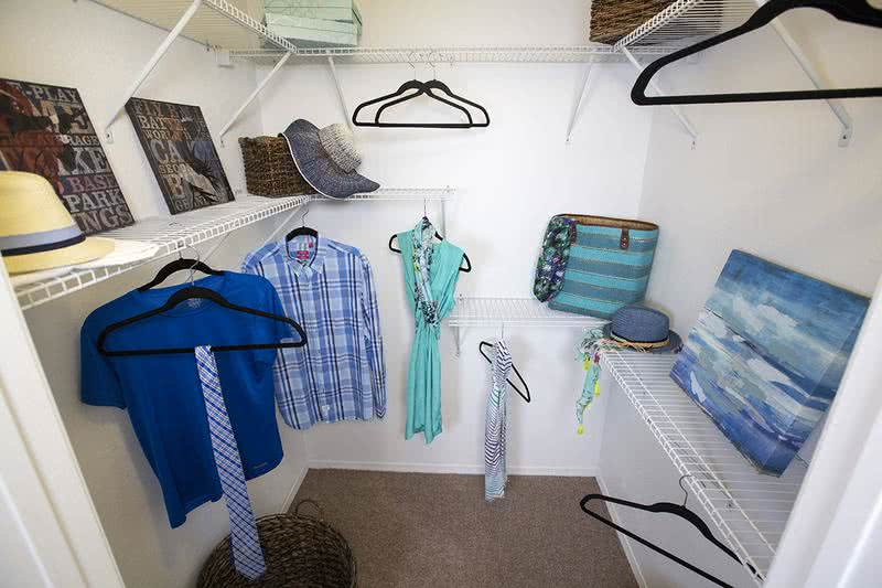 Walk-In Closet | Master bedroom closets featuring tons of space.
