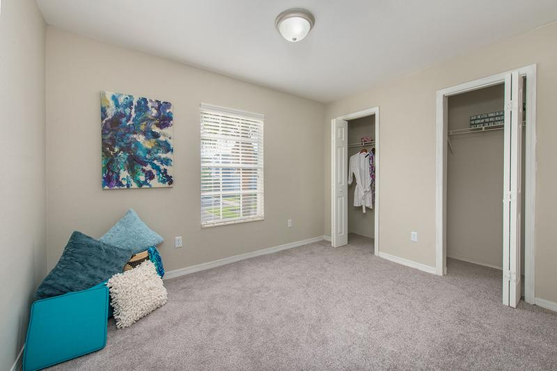 Dual Closets | You'll love our dual closets, complete with built-in organizers.