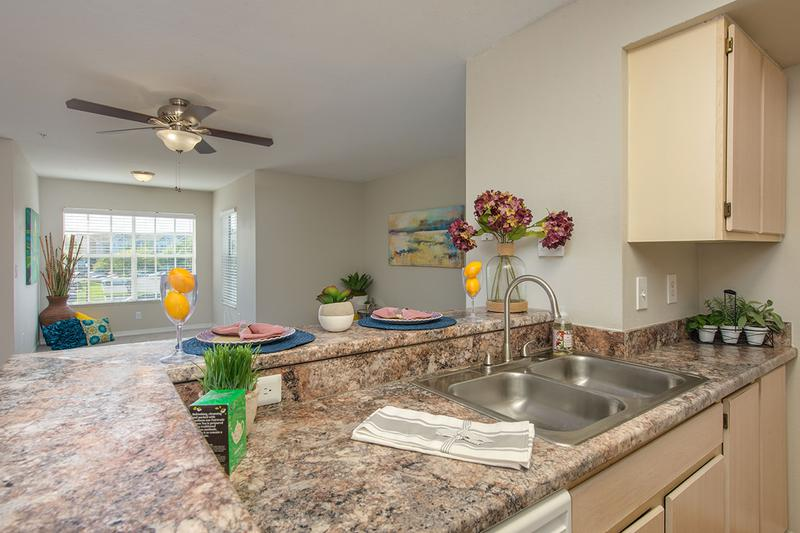 Breakfast Bar | Kitchens feature breakfast bars overlooking the living area.