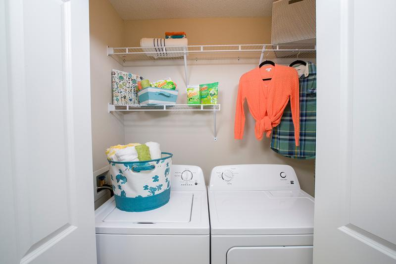 Full Size Washer & Dryers | Some of our apartment homes feature full size washer and dryer appliances for your convenience.