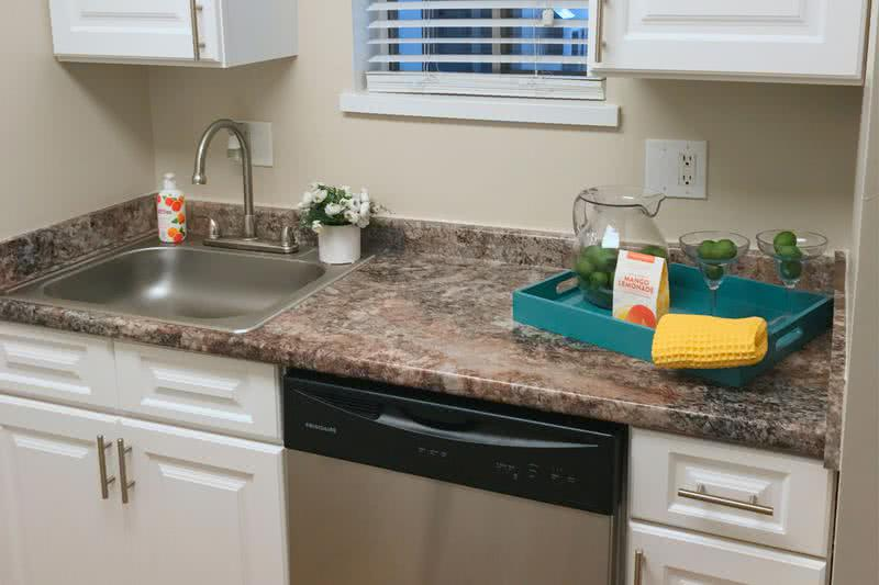 Studio Kitchen | Fully applianced kitchens in our studio apartments including a dishwasher!