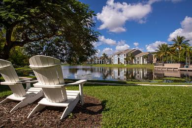 Lake Views | Enjoy beautiful lake views from our Adirondack chairs.