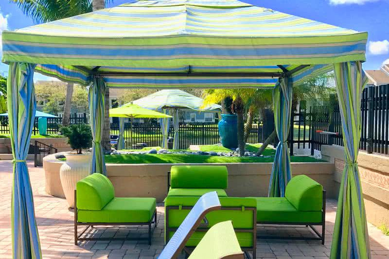 Poolside Cabanas | Relax under our shady cabanas on the sun deck.