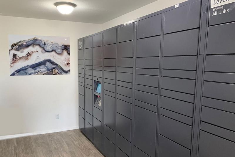 Amazon HUB Coming Soon | Your packages will be safe and sound in our new Amazon HUB package lockers. All packages will be delivered this hub. Residents will have their own code to retrieve their packages safely & securely.