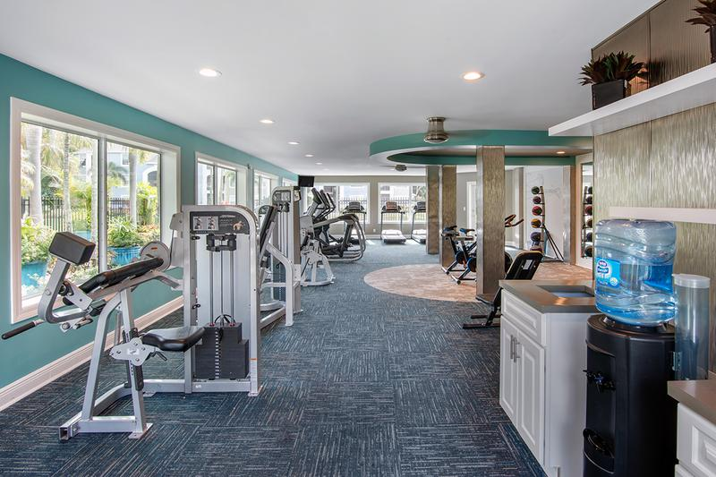 24-Hour Fitness Center | With 24 hour access, you'll save money with no need for a gym membership.