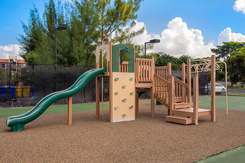 Playground | Your children will love playing on our great jungle gym and play space.