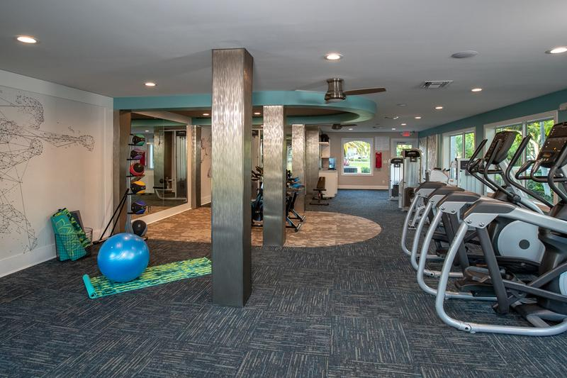 Fitness Center | Our resident fitness center includes all of the cardio equipment you'll need to get a full body workout.