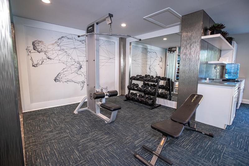 Weight Training | Our fitness center also features plenty of weight training equipment.