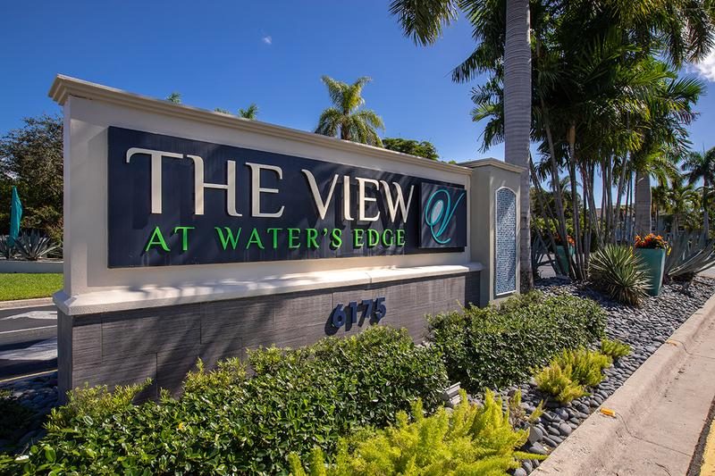 Leasing Office Entrance | Welcome to The View at Water's Edge where you can experience tranquil waterside living.