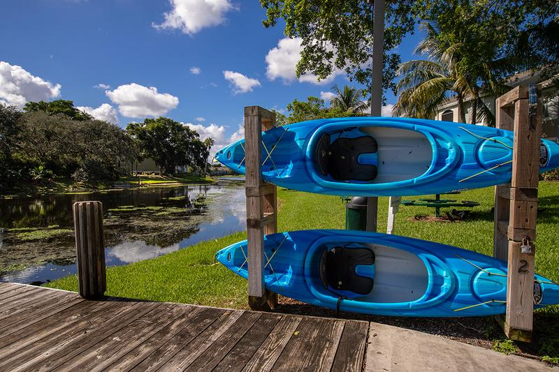 Kayak Rentals | Take out one of our kayaks for a tranquil ride through Lake Osborne.