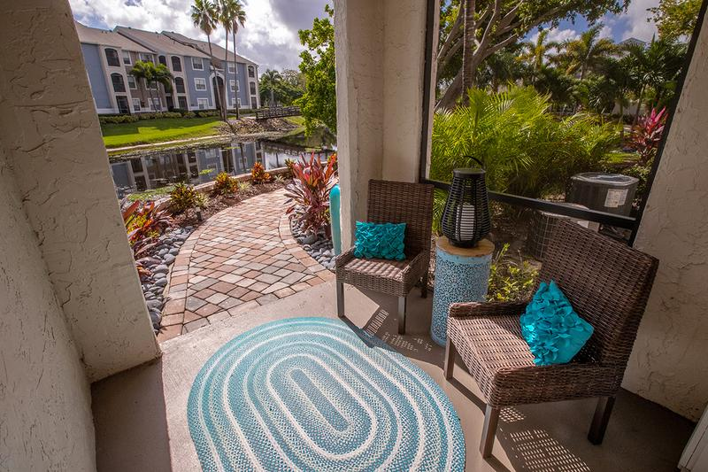 Private Patio | Enjoy your morning coffee in your private screened-in patio or balcony. It's the perfect way to enjoy the South Florida lifestyle all year long!