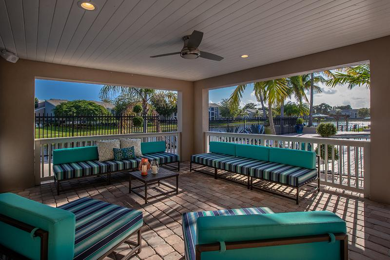 Pool Deck | Relax in the shade at our pool deck with comfortable seating.