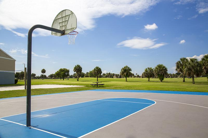 Basketball Court | Play a game at our on-site basketball court.