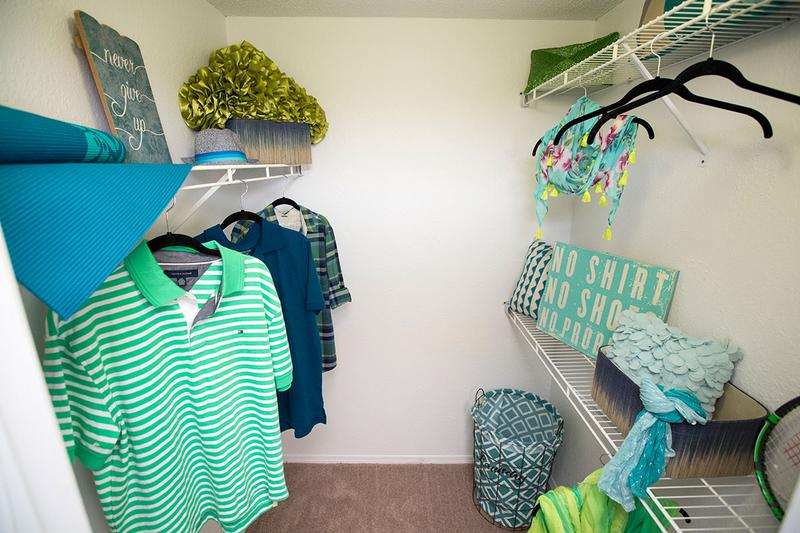 Walk-In Closet | Plenty of space for all of your clothes and more!